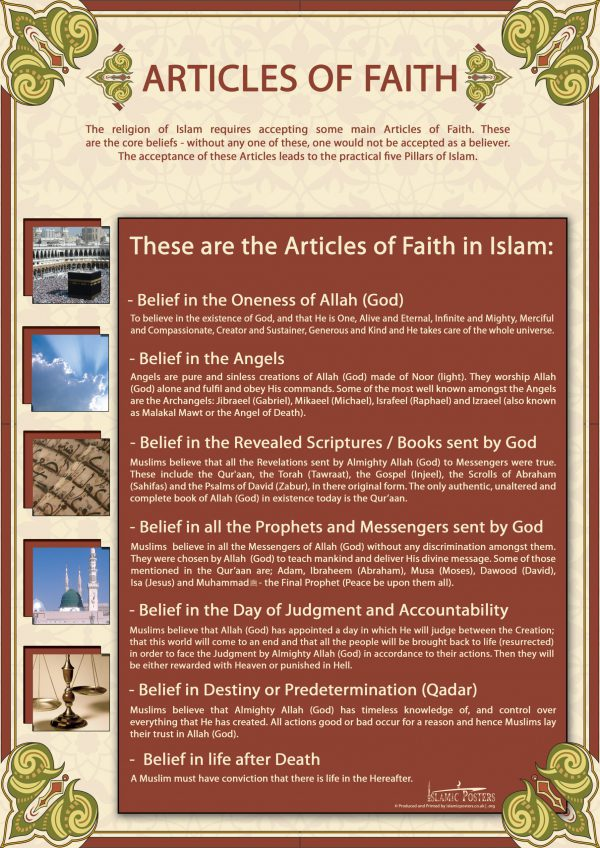 English 17 - Basic Articles of Faith by islamic posters