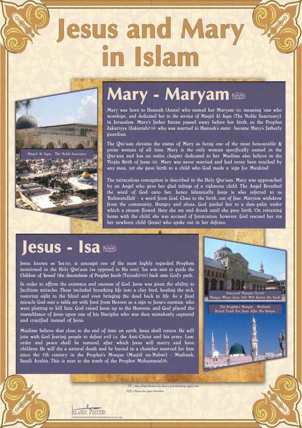 English 21 - Jesus and Mary in Islam By Islamic Posters