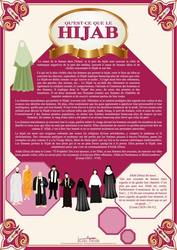 French 2 - 1 Qu'est-ce que le hijab par Islamic Posters
