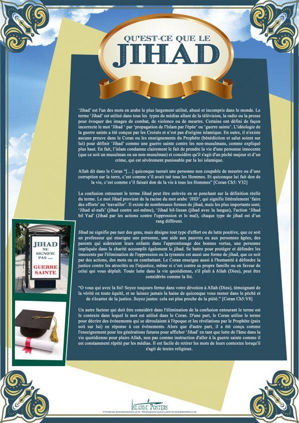 French 6 - 2 Qu'est-ce que le Jihad par Islamic Posters
