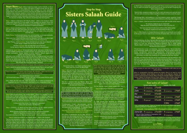 How 10 - Sisters Step by Step Salaah Guide by islamic Posters Final