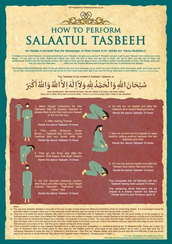 How 6 - Learn How To Perform Salaatul Tasbeeh V2