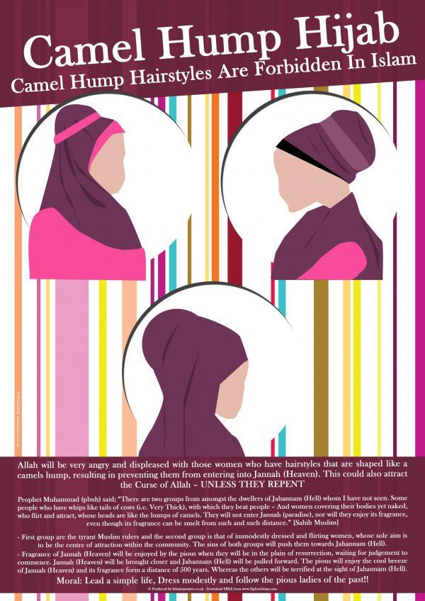 Islamic Education 11 - 02 Camel Hump Hijab by Islamic Posters