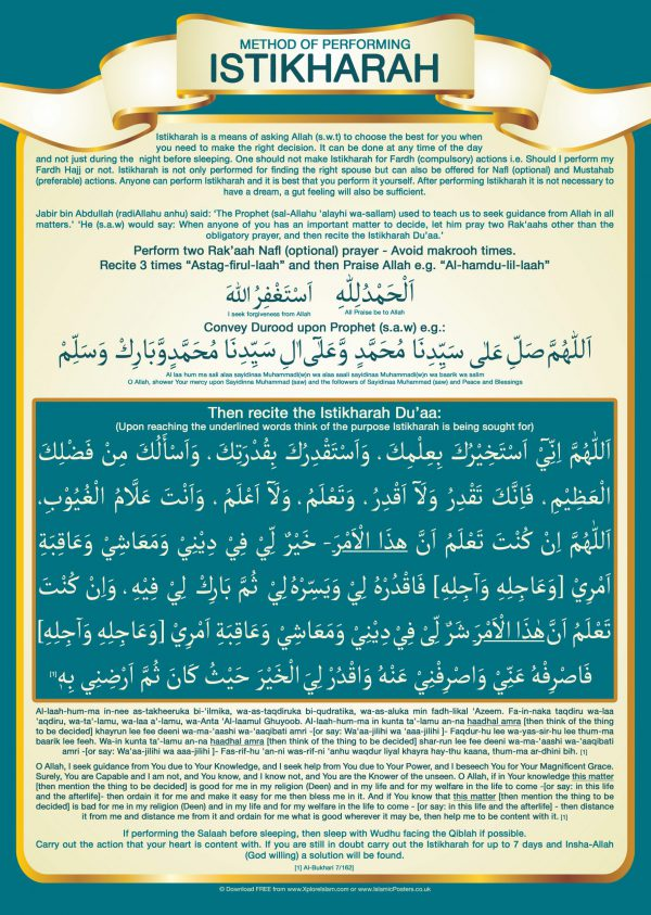 Islamic Education 16 - 1 How to perform Istikarah