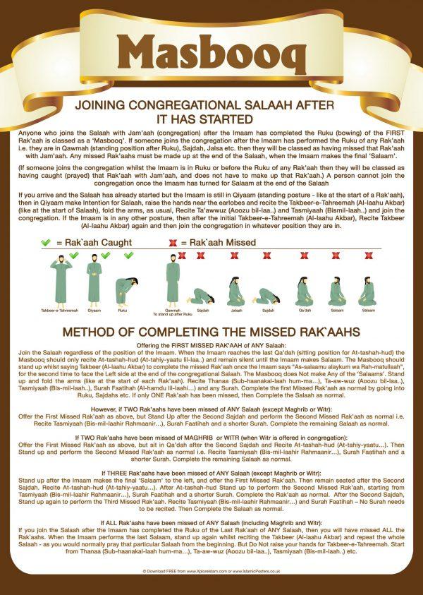 Islamic Education 17 - 1 Masbooq - Missing a Rakaah in Salaah v2
