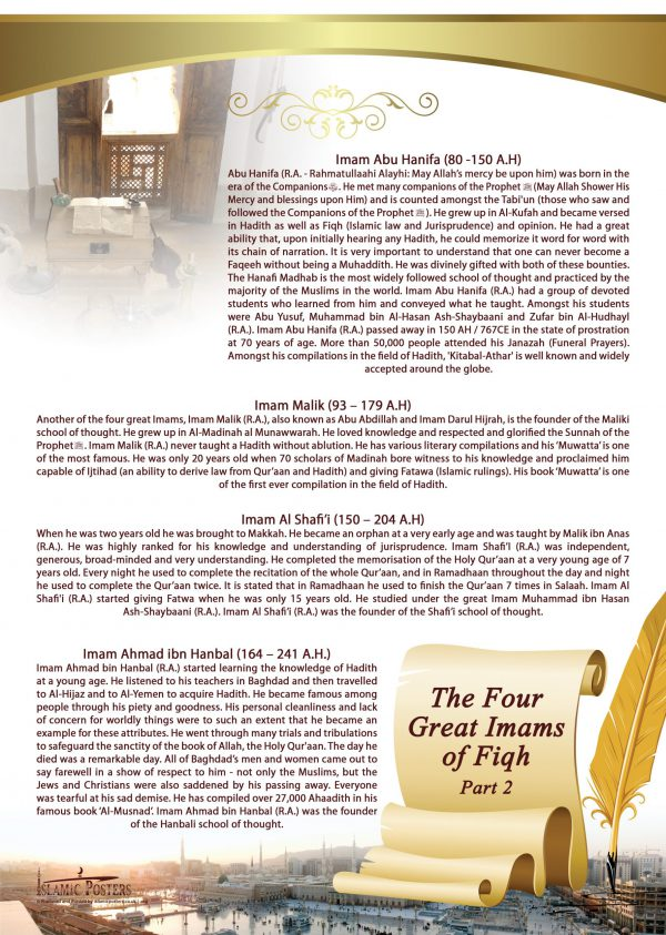 Islamic Education 21 - 2 The Four Great Imams of Fiqh part 2