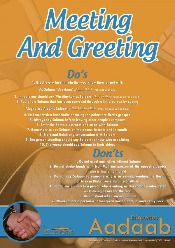 Islamic Education 28 - Aadaab V2 The Aadaab of greeting and meeting
