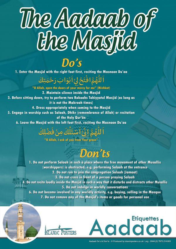 Islamic Education 34 - Aadaab V2 The Aadaab of the Masjid