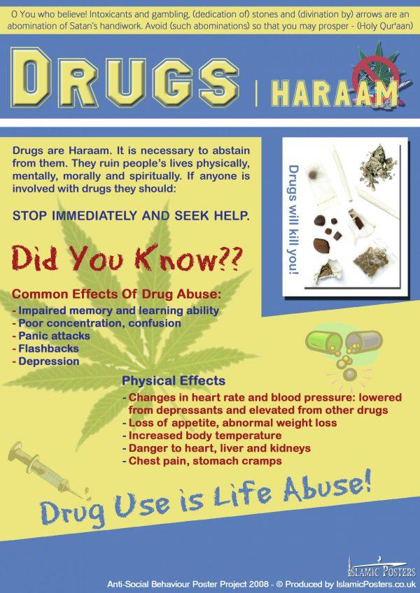 Islamic Education 40 - Antisocial - Drugs Forbidden in Islam