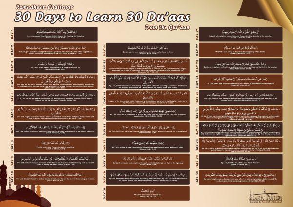 Islamic Education 54 - Ramadhaan Duaa Challenge by Islamic Posters