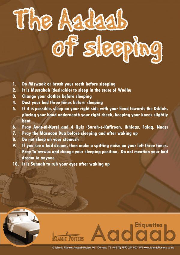 Islamic Education 66 - The Aadaab of sleeping