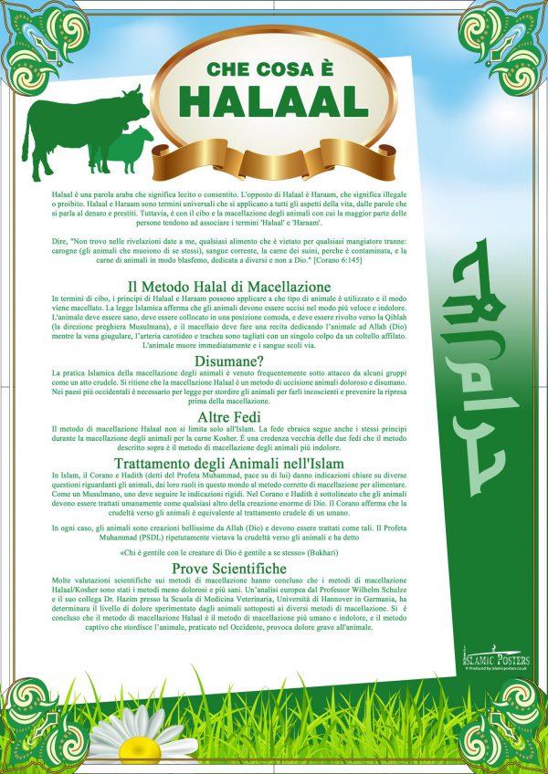 Italian 3 - Che Cosa è Halaal By Islamic Posters