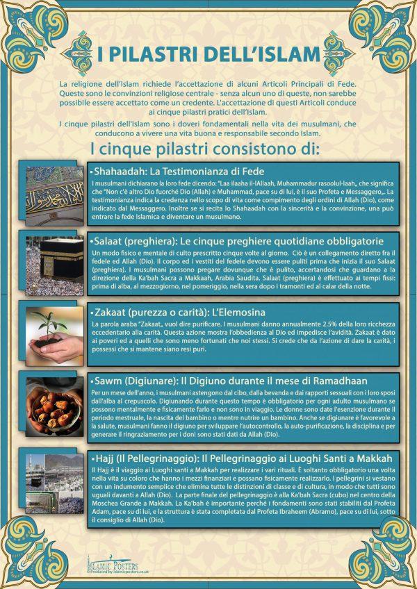 Italian 8 - I Pilastri dell'Islam By Islamic Posters