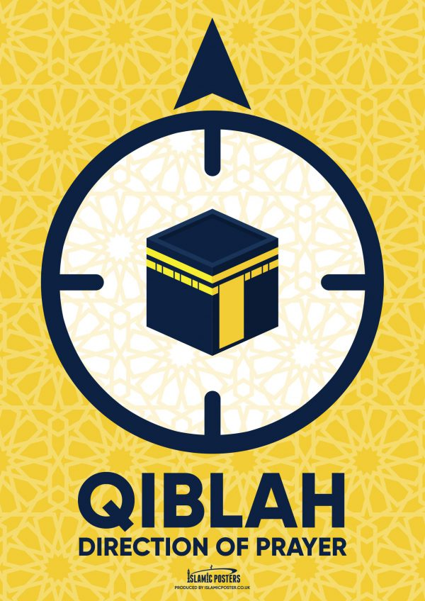 Masjid 51 - Qiblah Pointer Poster By Islamic Posters