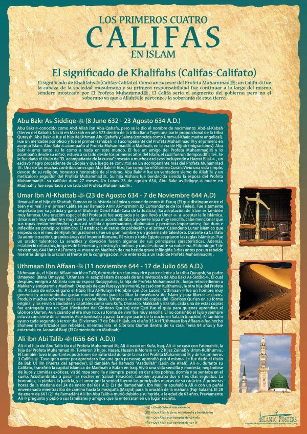 Spanish 20 - spanish-los-primeros-cuatro-califas-en-islam-by-islamic-posters
