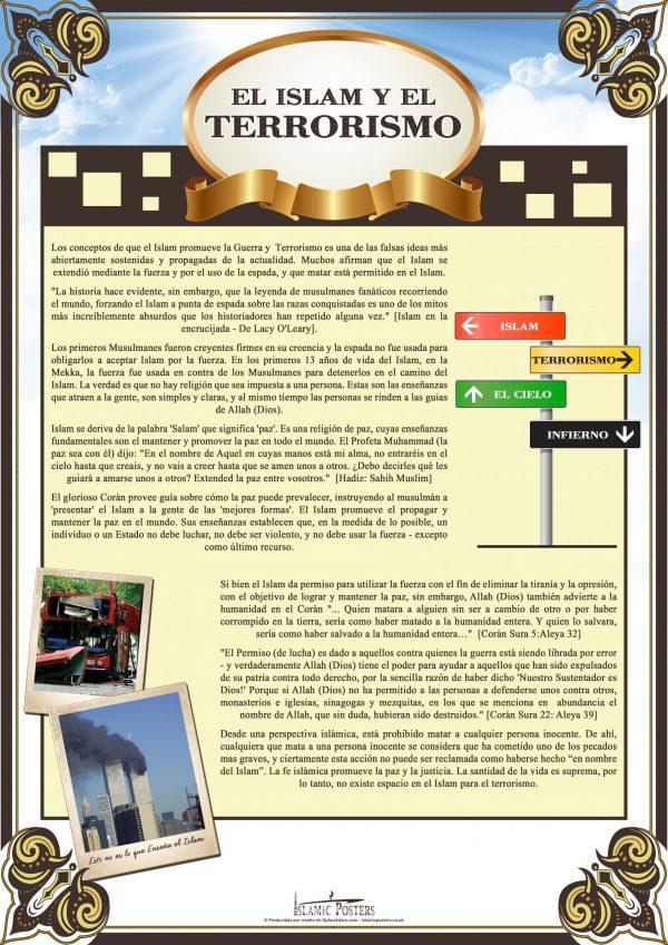 Spanish 3 - - El Islam y El Terrorismo by Islamic Posters
